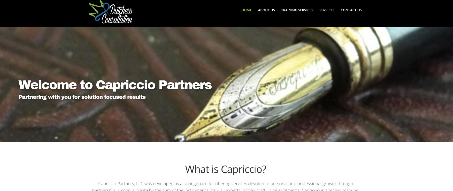 Capriccio Partners – Website