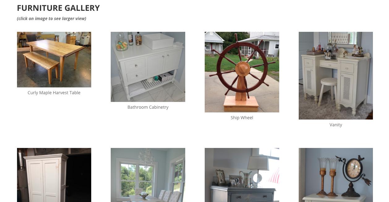 Blue Ridge Wood Working furniture gallery