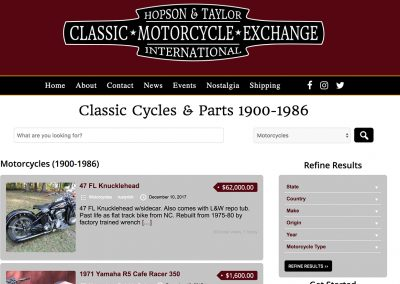 Classic Motorcycle Exchange – Hopson & Taylor