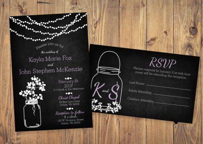 McKenzie-Fox Wedding Invitations