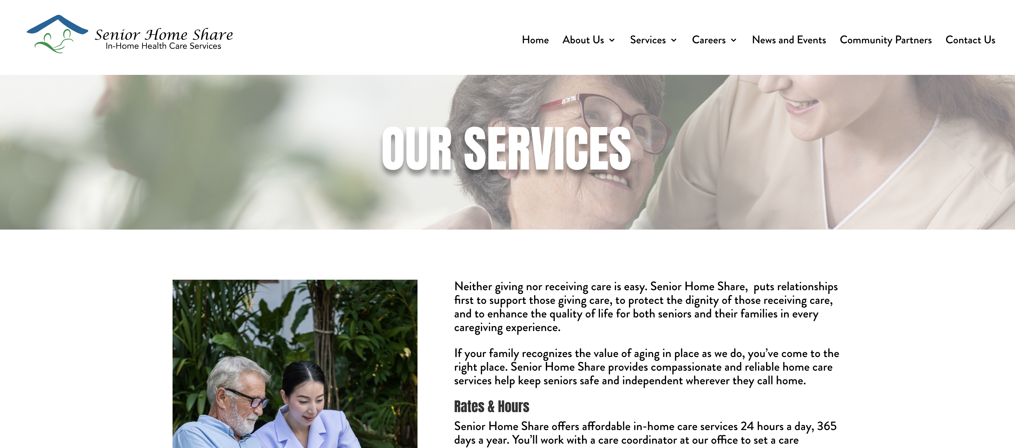 Our Services Website Page
