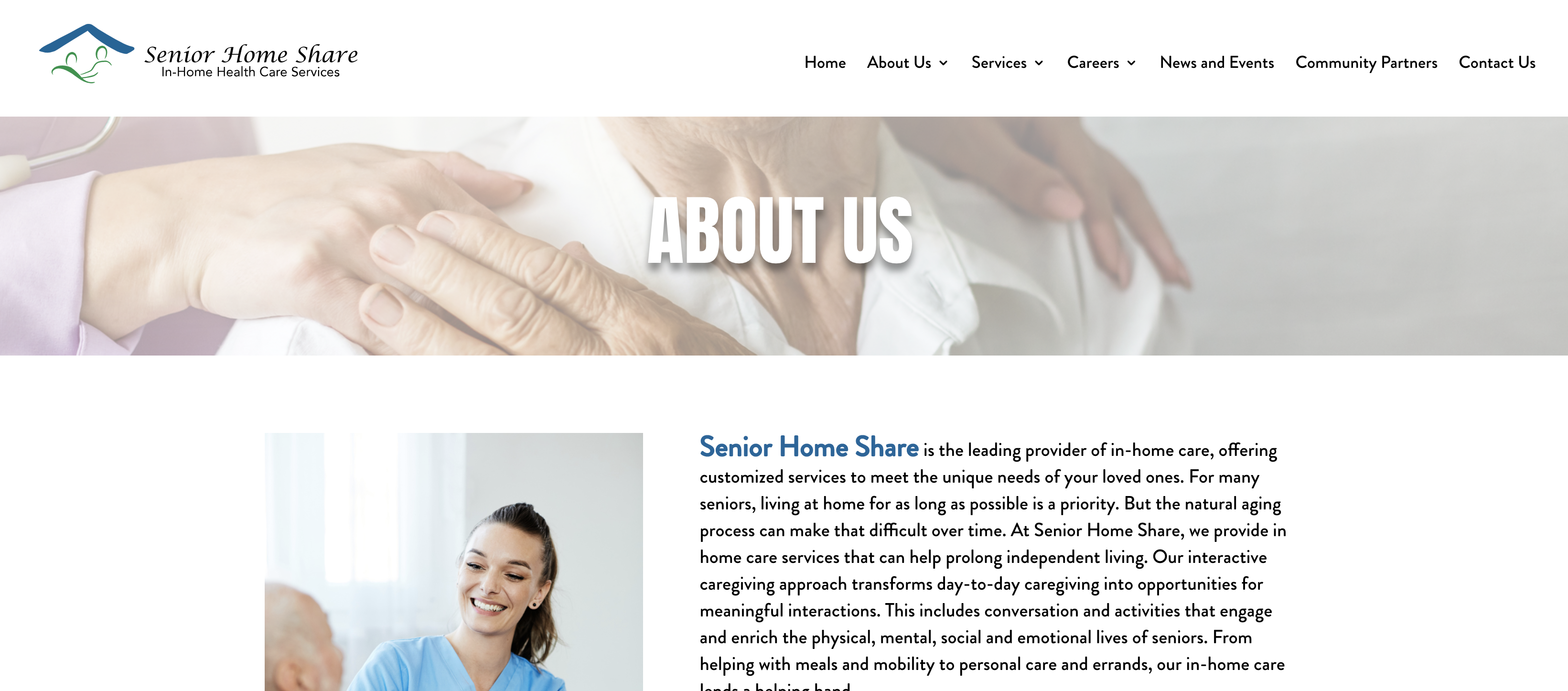 About Us Website Page