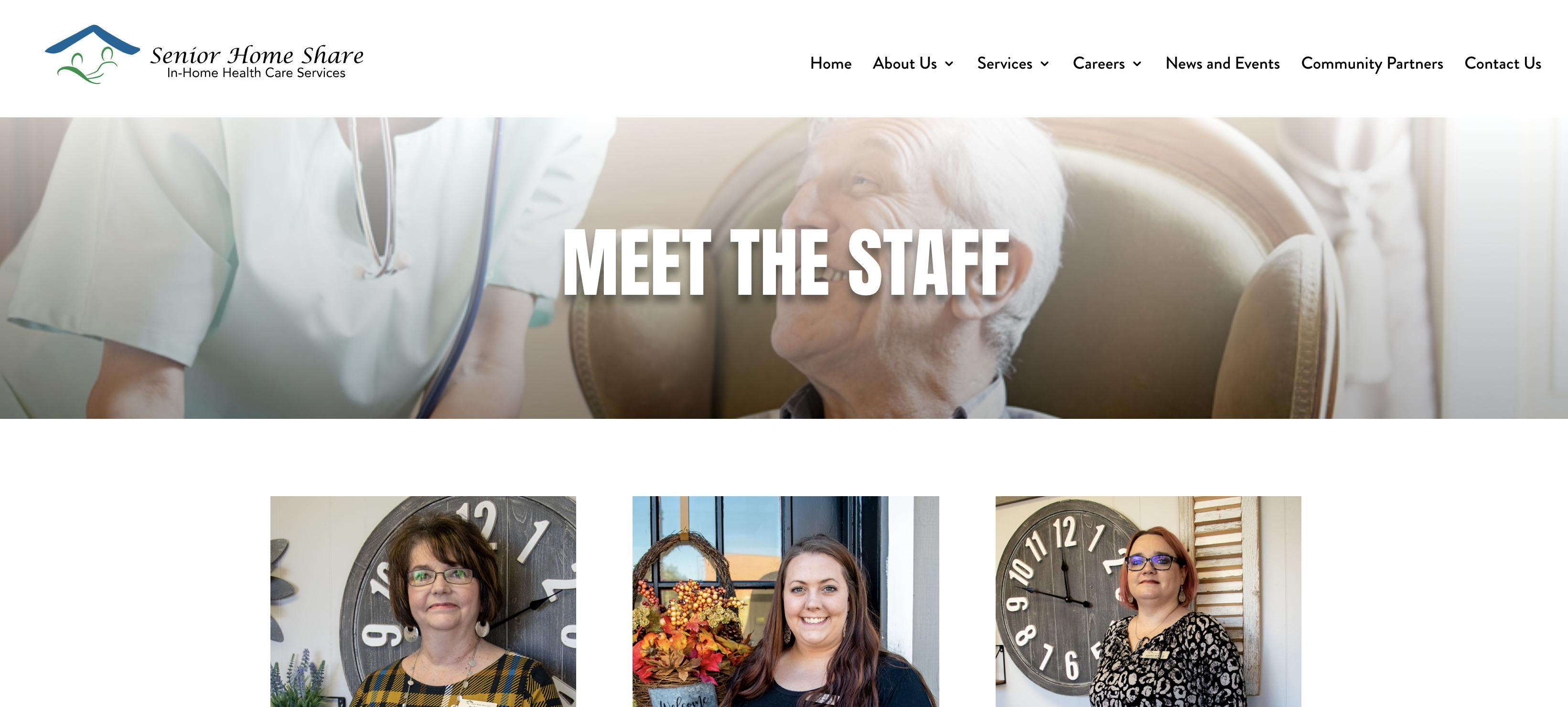 Meet the Staff - Senior Home Share